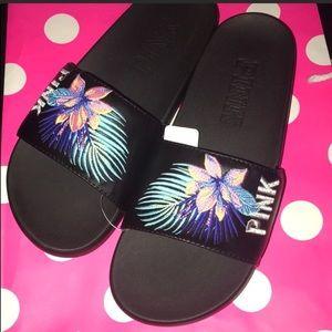 Victoria Secret pink Slides MEDIUM 7-8